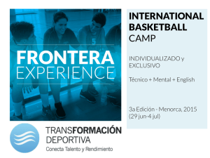 INTERNATIONAL BASKETBALL CAMP