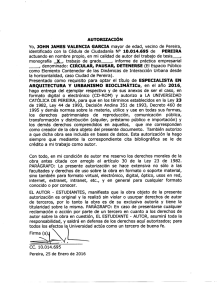 AUTORIZACIÓN Yo, JOHN JAMES VALENCIA GARCIA mayor de