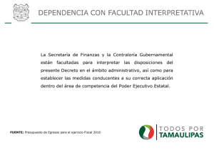 Especificación de dependencia para facultad interpretativa
