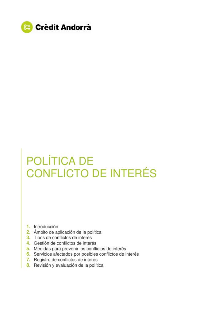 política de conflicto de interés