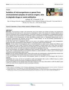 Isolation of microorganisms or genes from environmental samples of