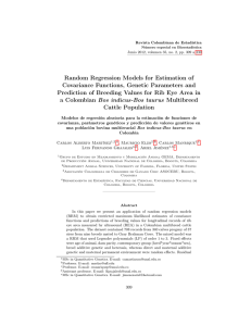 Random Regression Models for Estimation of Covariance Functions