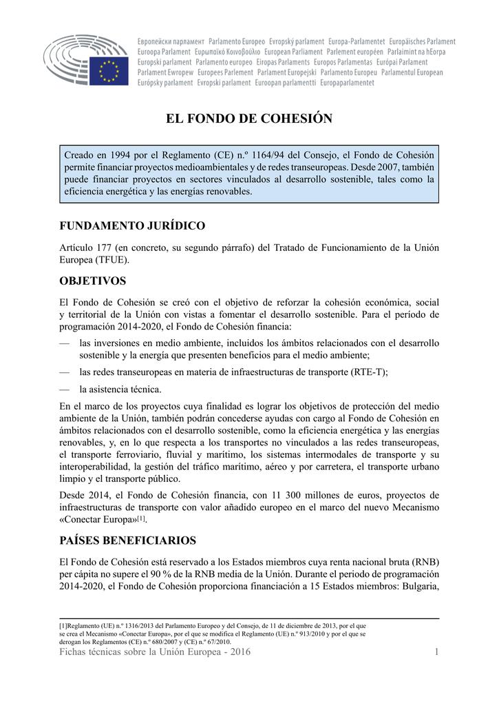 Reglamento fondo de cohesion