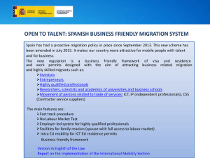 open to talent: spanish business friendly migration system