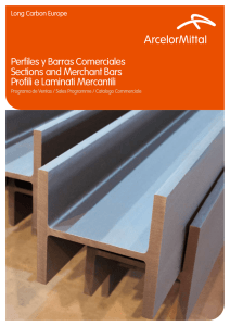 Perfiles y Barras Comerciales Sections and Merchant Bars Profili e