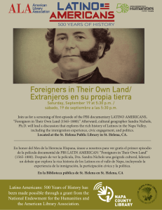 Foreigners in Their Own Land/ Extranjeros en su propia
