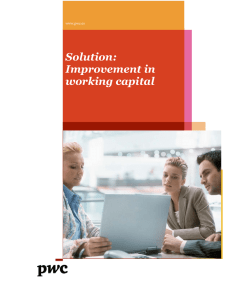 Solution: Improvement in working capital