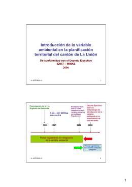 Introducción de la variable ambiental en la planificación territorial