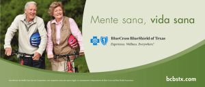 Mente sana, vida sana - Blue Cross and Blue Shield of Texas
