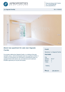 Brand new apartment for sale near Sagrada Familia