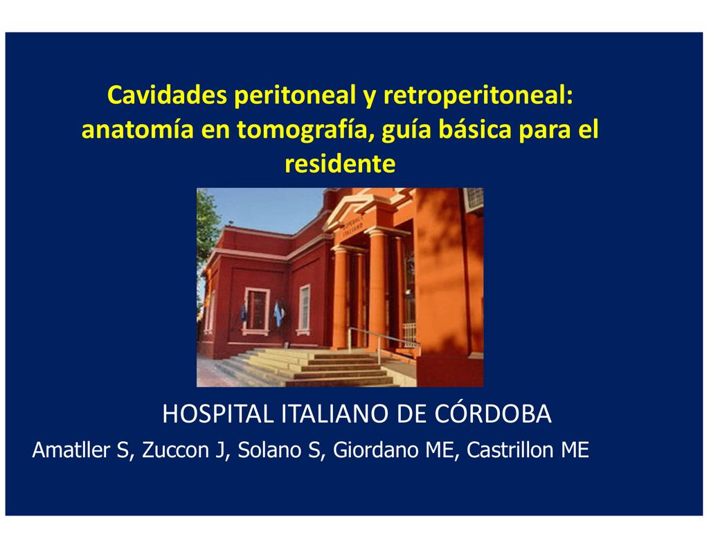 Cavidades peritoneal y retroperitoneal: anatomía en tomografía