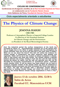 The Physics of Climate Change - Facultad de Ciencias Físicas