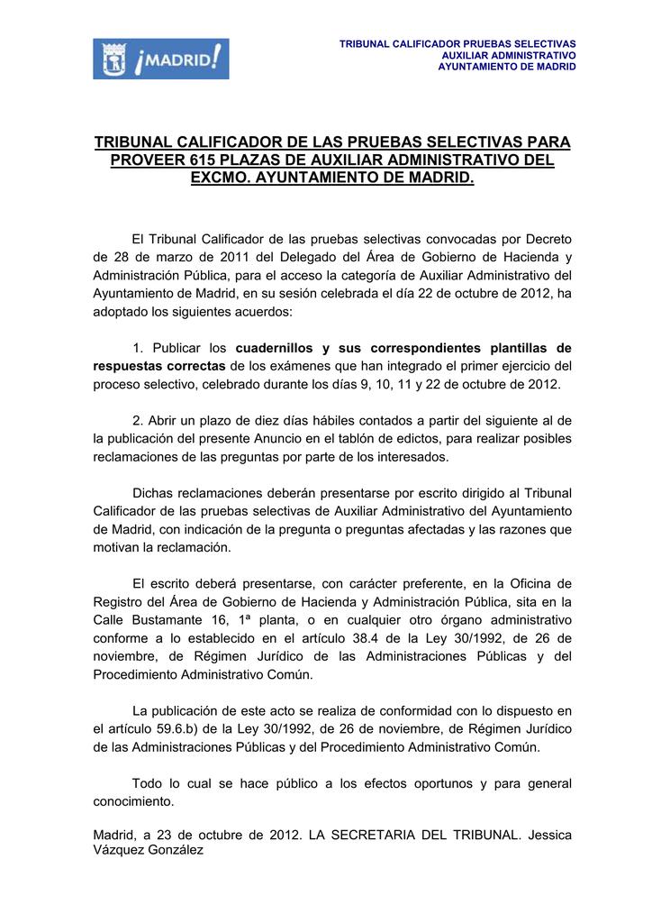 ANUNCIO CUADERNILLOS Y PLANTILLA DE RESPUESTAS