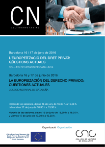 Program  - Universitat de Barcelona