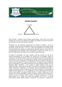 relación triangular - Instituto Educativo Modelo