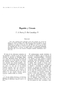 Hepatitis y Cirrosis