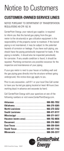 Notice to Customers - CenterPoint Energy
