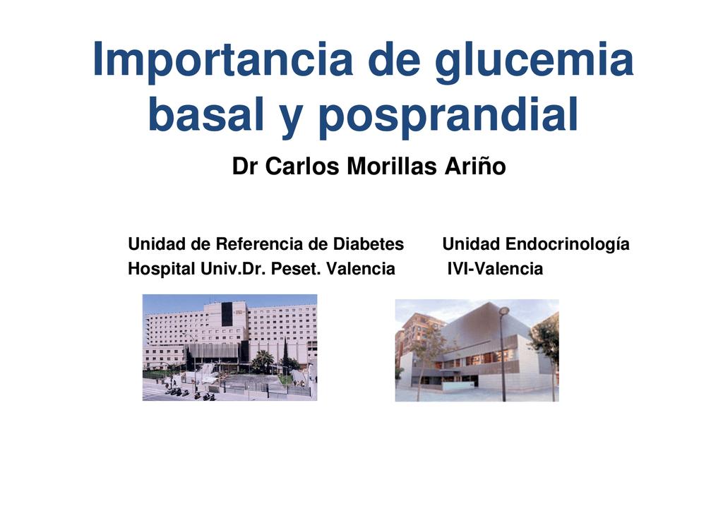 valores normales de glucosa basal y postprandial