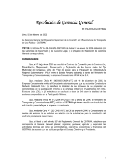 Resolución de Gerencia General