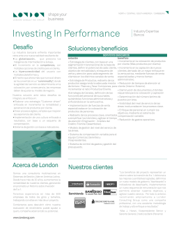 Investing In Performance - London Consulting Group