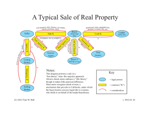 A Typical Sale of Real Property