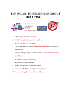TEN RULES TO REMEMBER