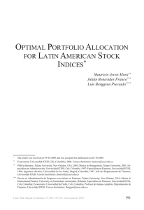 optimal portfolio allocation for latin american stock indices