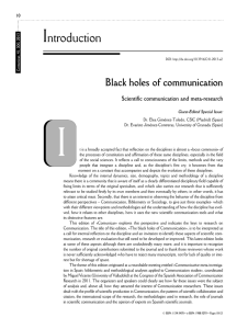 Black holes of communication