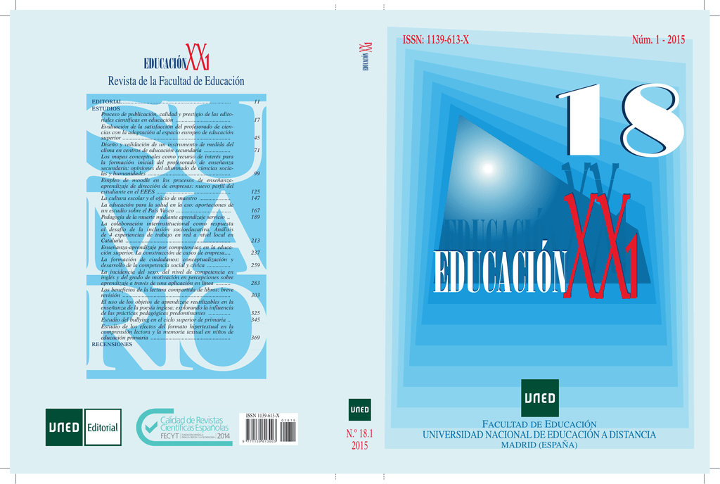 Issn 1139 613 X Núm 1 2015 Revistas Científicas De La Uned