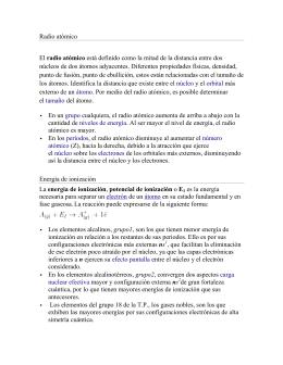 Justificacin de la variacin de las propiedades peridicas en los radio atmico el radio atmico est definido como urtaz Choice Image