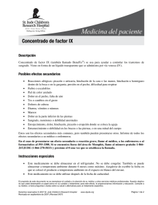 Concentrado de factor IX - St. Jude Children`s Research Hospital