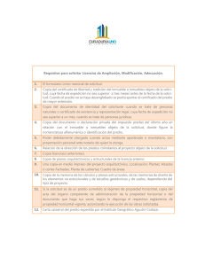 Requisitos para solicitar Licencias de Ampliación, Modificación