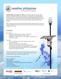 WeatherPhilippines Foundation, Inc. (WPF) aims to deliver