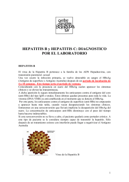 HEPATITIS B y HEPATITIS C: DIAGNOSTICO POR