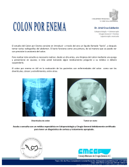 El estudio del Colon por Enema consiste en introducir a través del