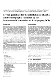 Revised guidelines for the establishment of global
