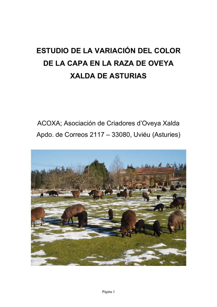 estudio de la variación del color de la capa en la raza de oveya