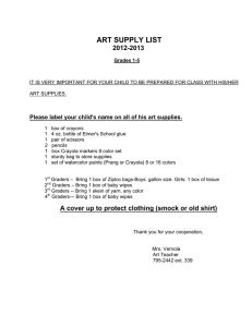 art supply list 2012-2013