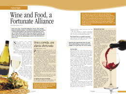 Reportaje Wine and Food, a Fortunate Alliance