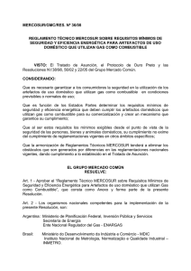 Reglamento Técnico MERCOSUL sobre Requisitos