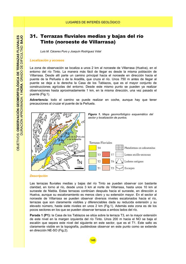 Terrazas Fluviales Medias Y Bajas Del Río Tinto Noroeste De