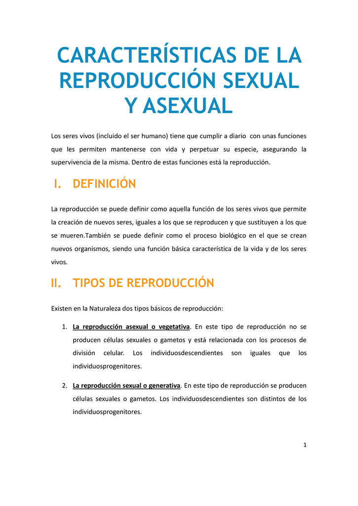 Reproduccion asexual directa o indirecta