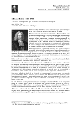 Edmond Halley (1656-1742) - Universidad de La Laguna