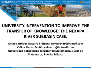 university intervention to improve the transfer of knowledge