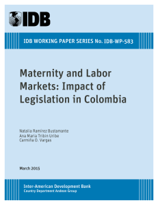 Maternity and Labor Markets: Impact of Legislation in Colombia