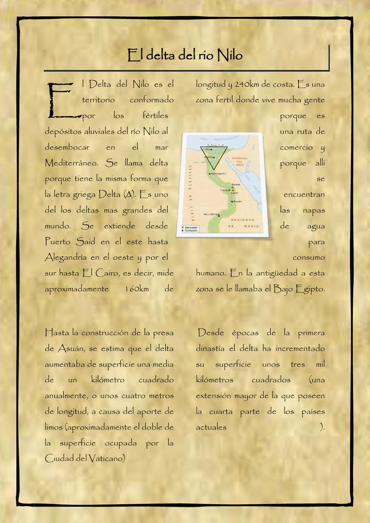 El delta del rio Nilo