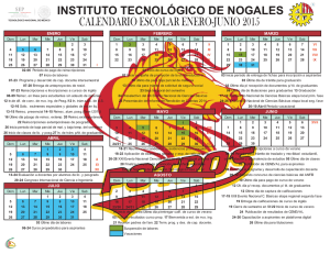 calendario i-2015 - Instituto Tecnológico de Nogales
