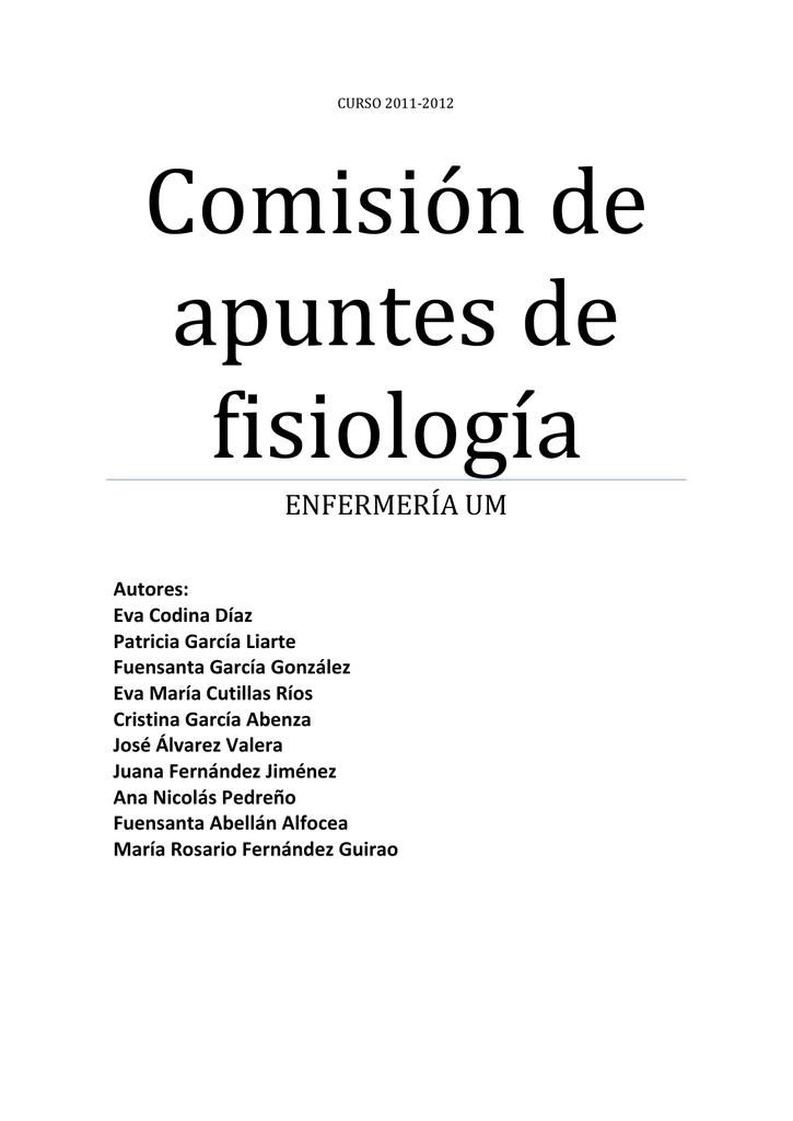 Comisión de apuntes de fisiología