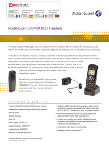 Alcatel-Lucent 300/400 DECT Handsets
