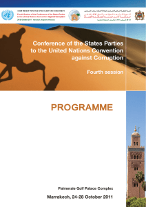 Event Programme - United Nations Office on Drugs and Crime